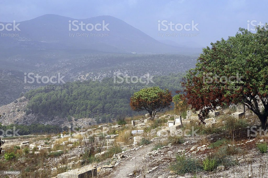Mountains of Galilee area, Israel stock photo