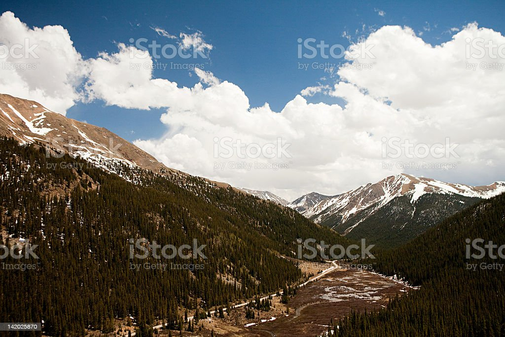 Mountains of Independence Pass, Colorado, USA stock photo
