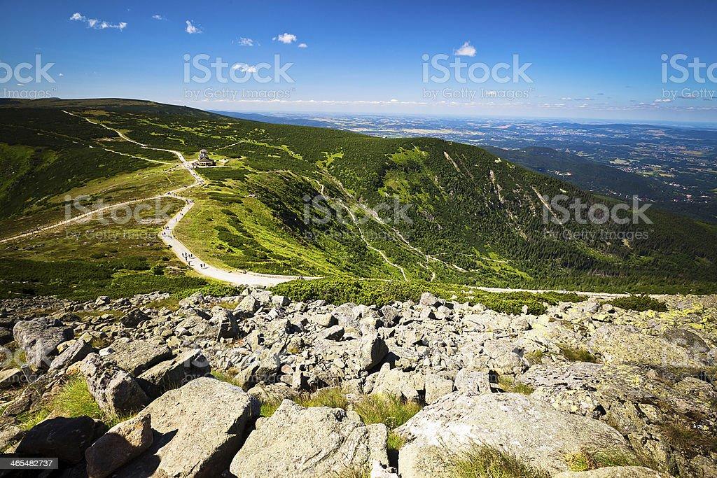 Mountains of Karkonosze with stones stock photo