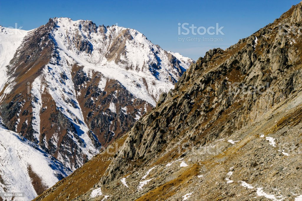 Mountains of Kazakhstan stock photo