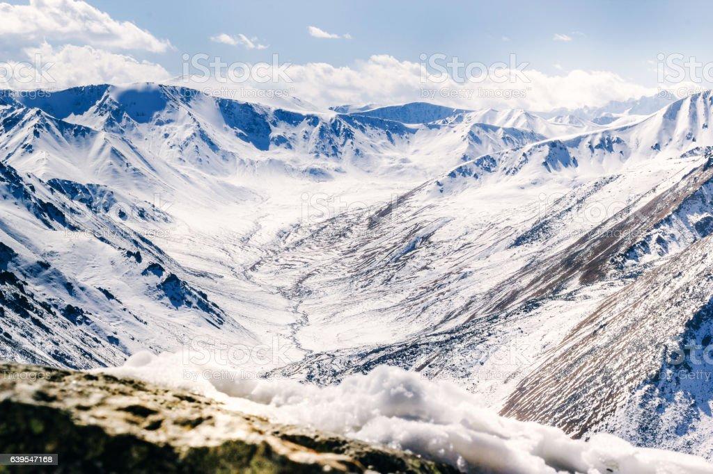 Mountains of Kazakhstan stock photo