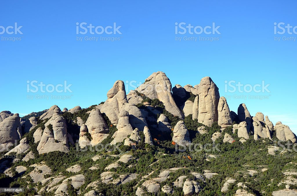 Mountains of Montserrat, Catalonia, Spain stock photo