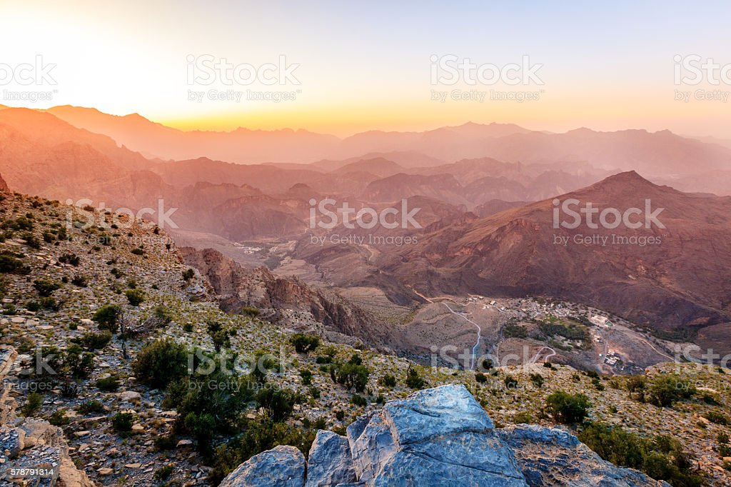 Mountains of Oman stock photo