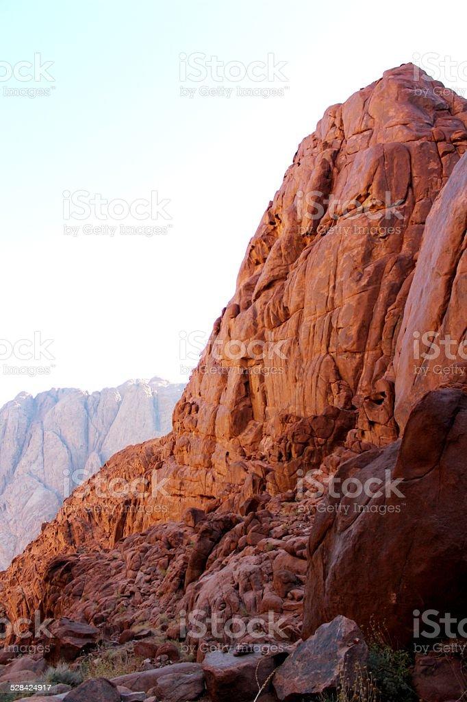 Mountains of rocks stock photo