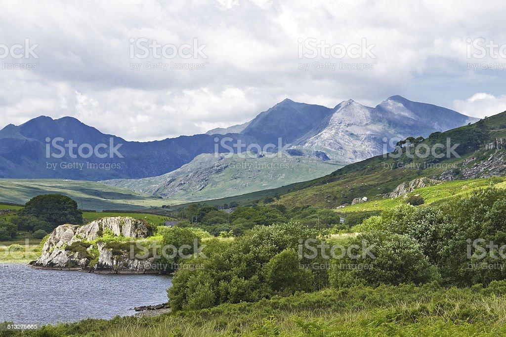 Mountains of Snowdonia stock photo