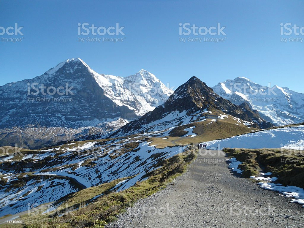 Mountains of the Bernese Alps in Switzerland - XL royalty-free stock photo