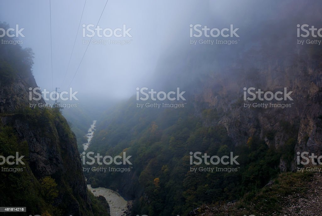 Mountains of the Caucasus stock photo