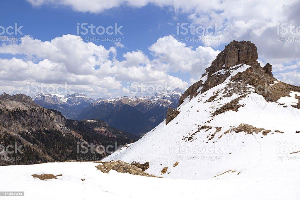 Mountains of the Dolomites, Rosengarten Group. royalty-free stock photo