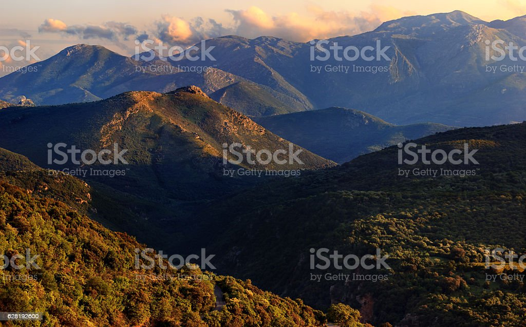 Mountains of the Peloponnese - Greece stock photo