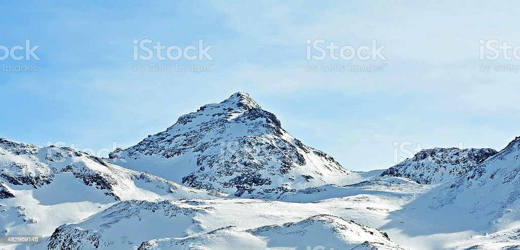 Mountains of Val Thorens, France stock photo