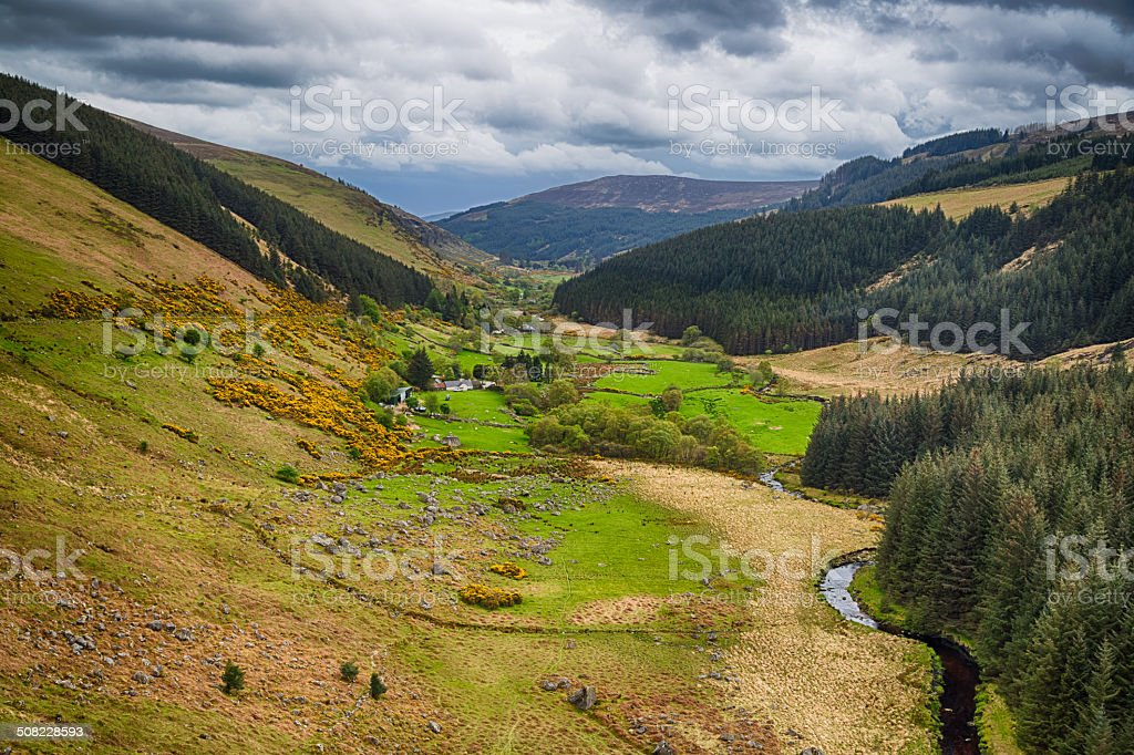 Mountains of Wicklow, Ireland stock photo
