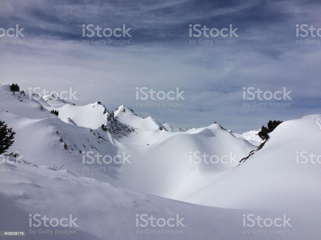 Mountains of winter stock photo