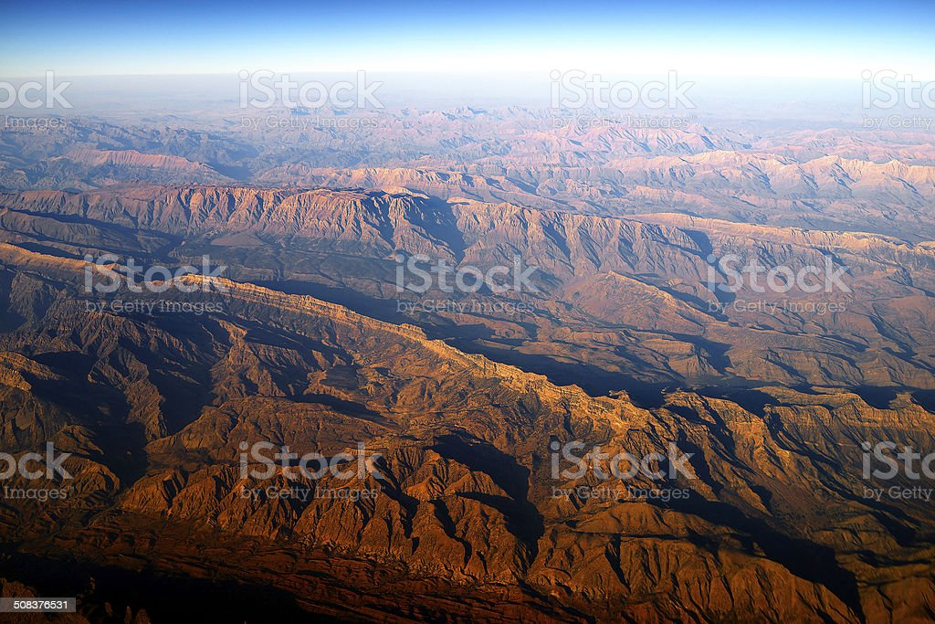 mountains over Afghanistan stock photo