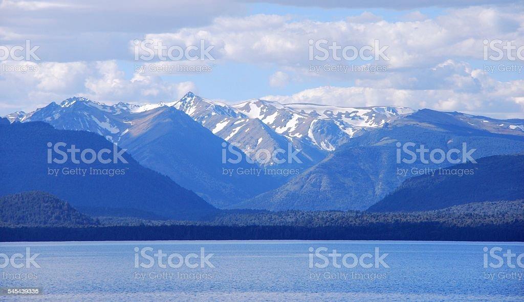 Mountains over the Lake stock photo