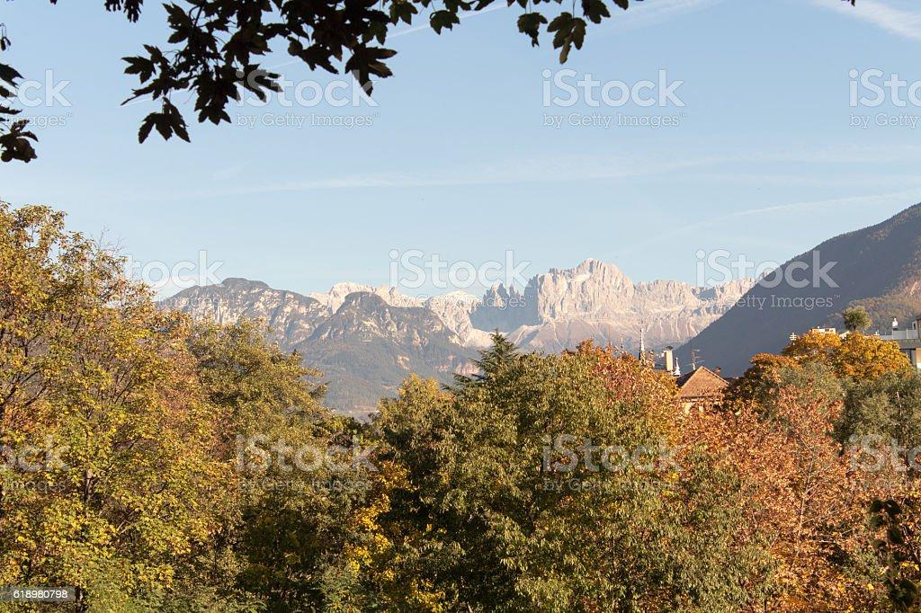 Mountains panorama, Dolomiti, Italy stock photo