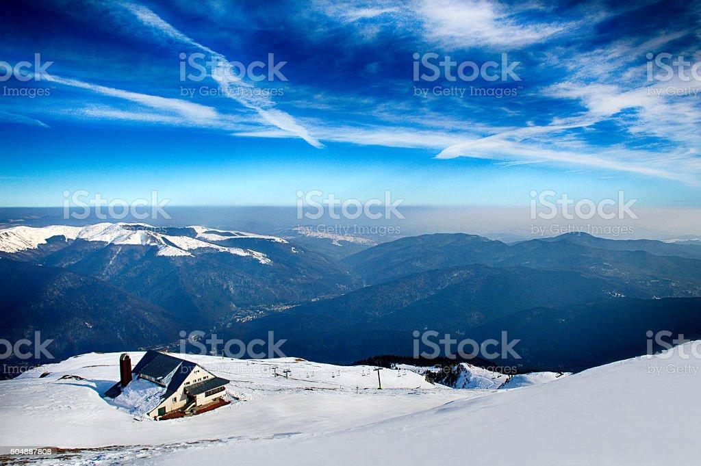 Mountains photo in Bucegi Romania stock photo