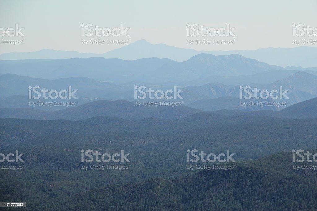 Mountains Rim Arizona Coconino Forest royalty-free stock photo