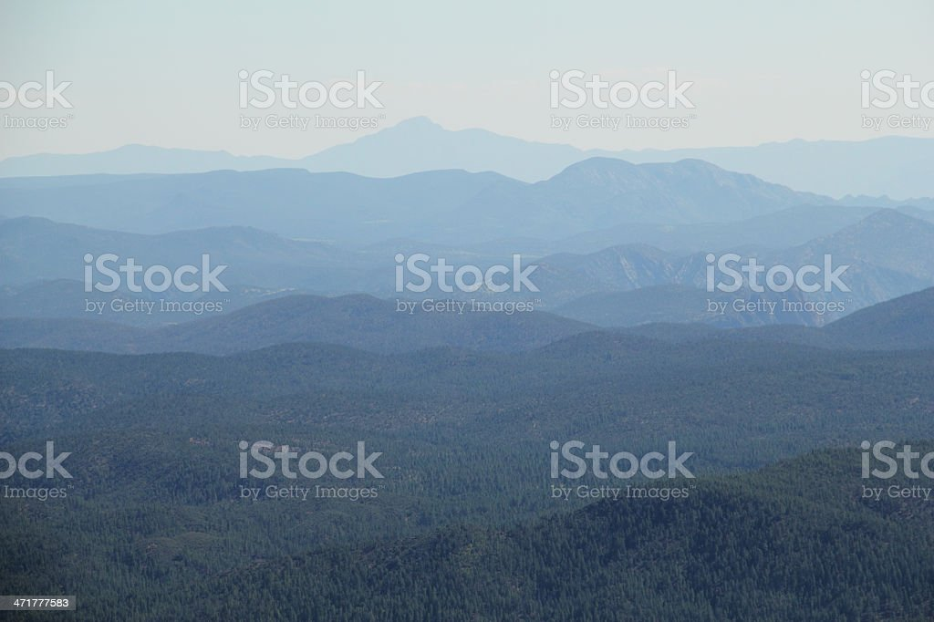 Mountains Rim Arizona Coconino Forest stock photo