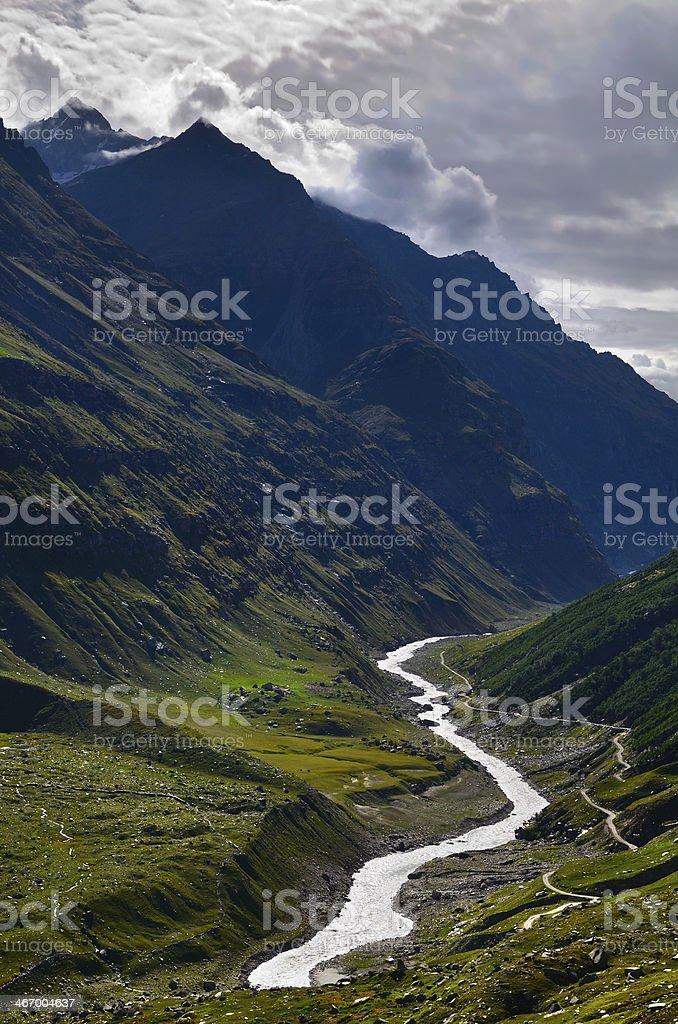 Mountains river stock photo