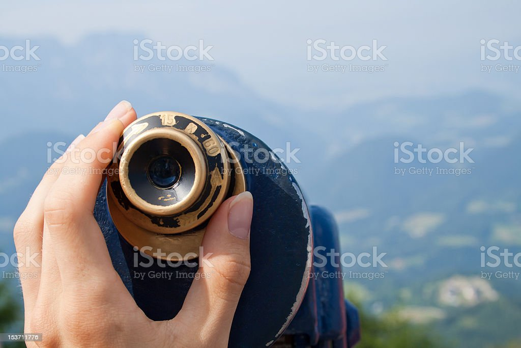 Mountains Seen through a Monocular royalty-free stock photo