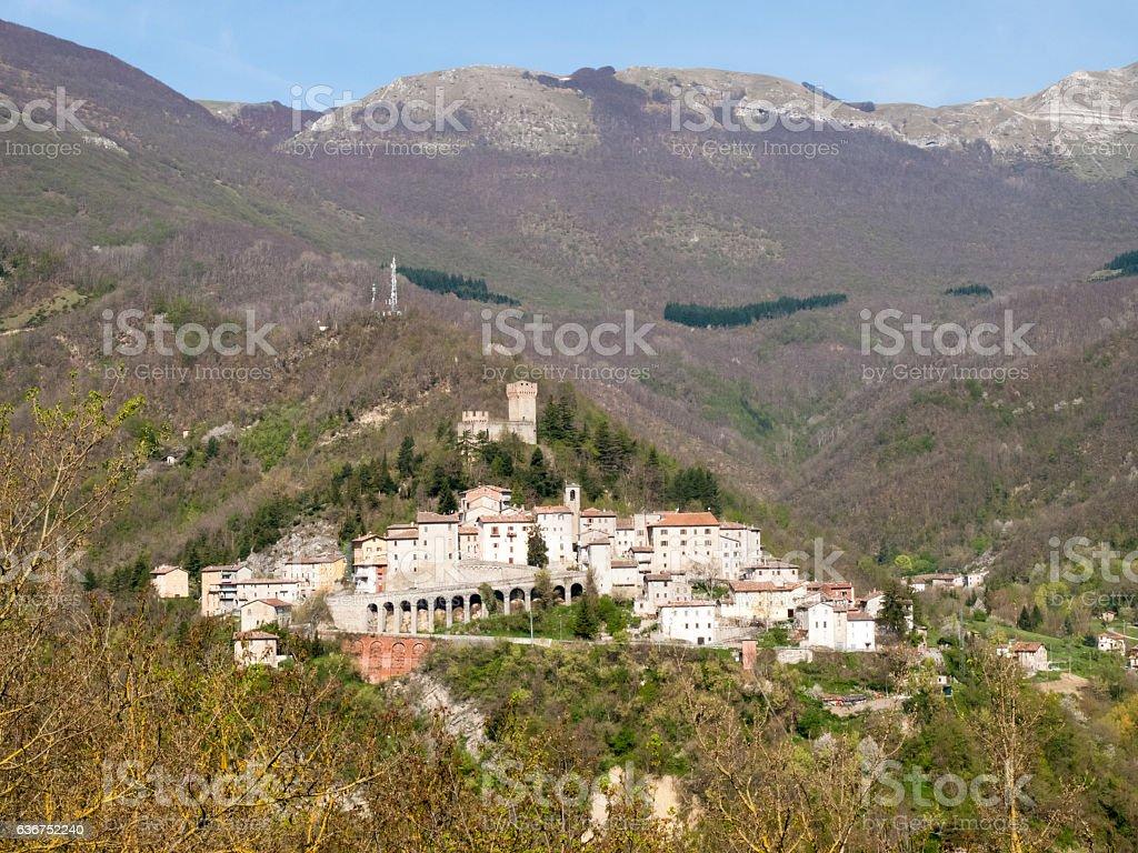 mountains Sibillini stock photo
