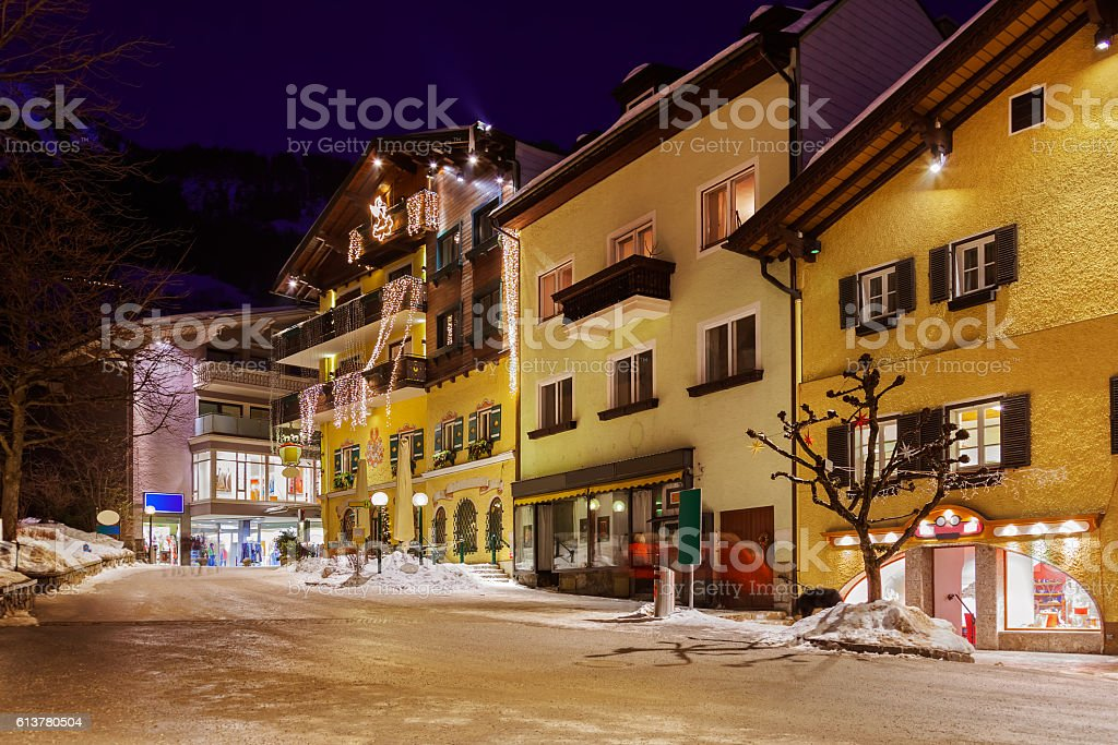 Mountains ski resort Bad Hofgastein Austria stock photo