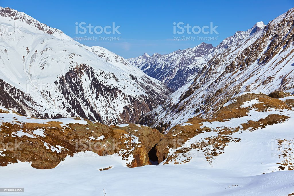 Mountains ski resort - Innsbruck Austria stock photo