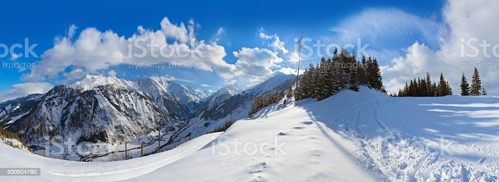 Mountains ski resort Kaprun Austria stock photo