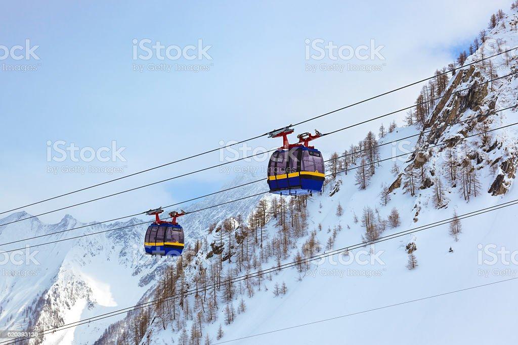 Mountains ski resort Kaprun Austria stock photo