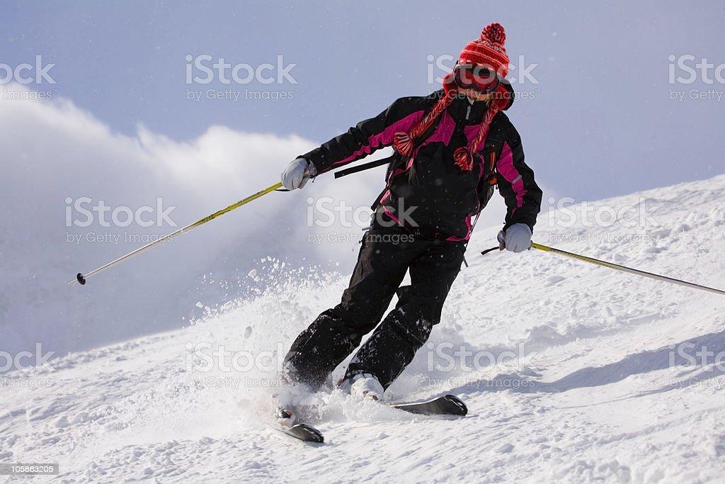 Mountains skiing royalty-free stock photo