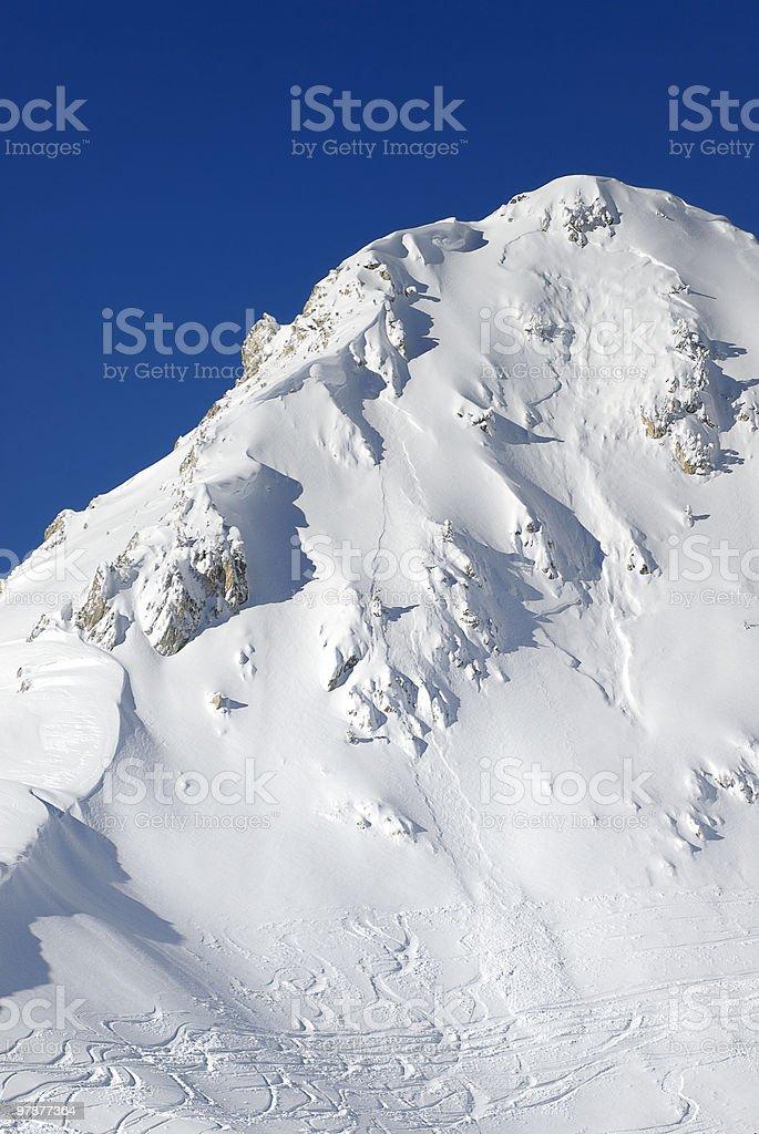 Mountain`s slope royalty-free stock photo