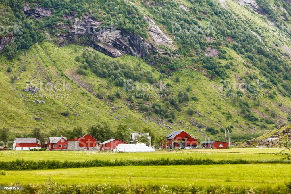 Mountains summer landscape in Norway. stock photo