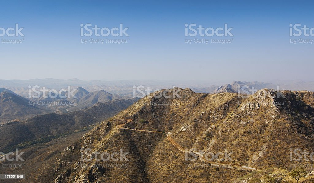 Mountains surrounding Udaipur, India. royalty-free stock photo