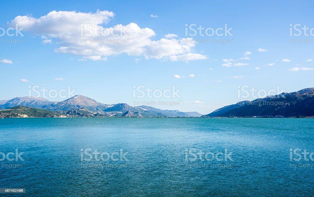 Mountains to the south-west of Egirdir Lake, Turkey stock photo