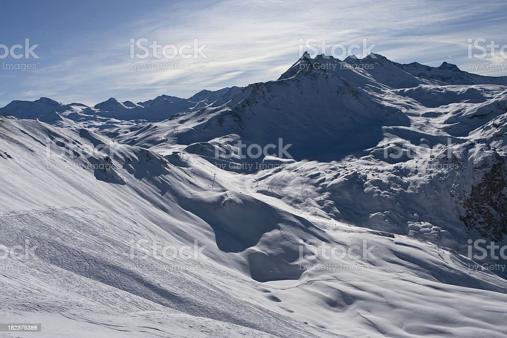 mountains, Val d'Isere stock photo