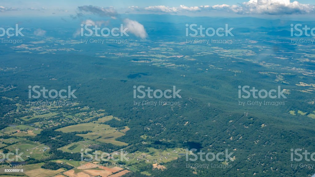 Mountains View from High up stock photo