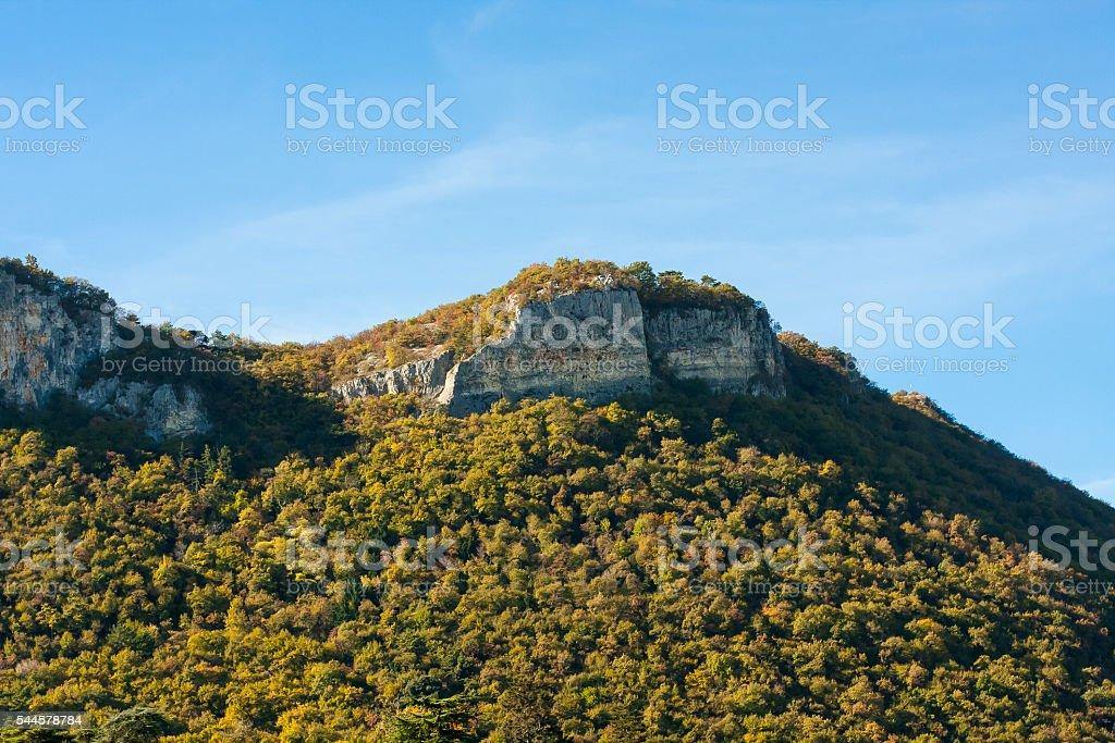 Mountains view stock photo
