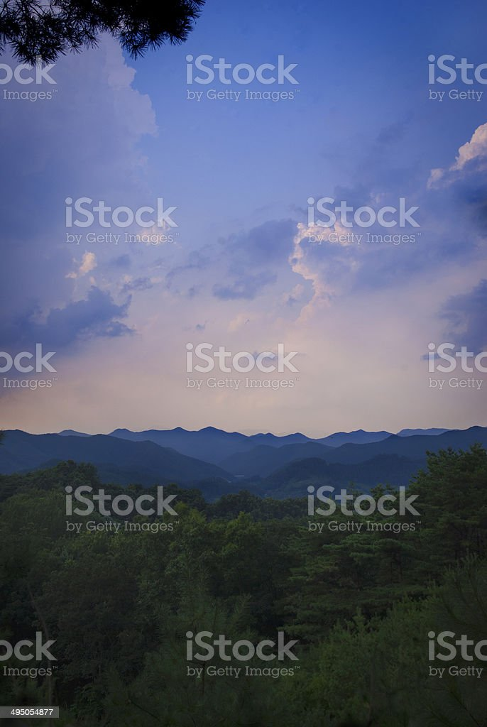 Berge mit Himmel stock photo