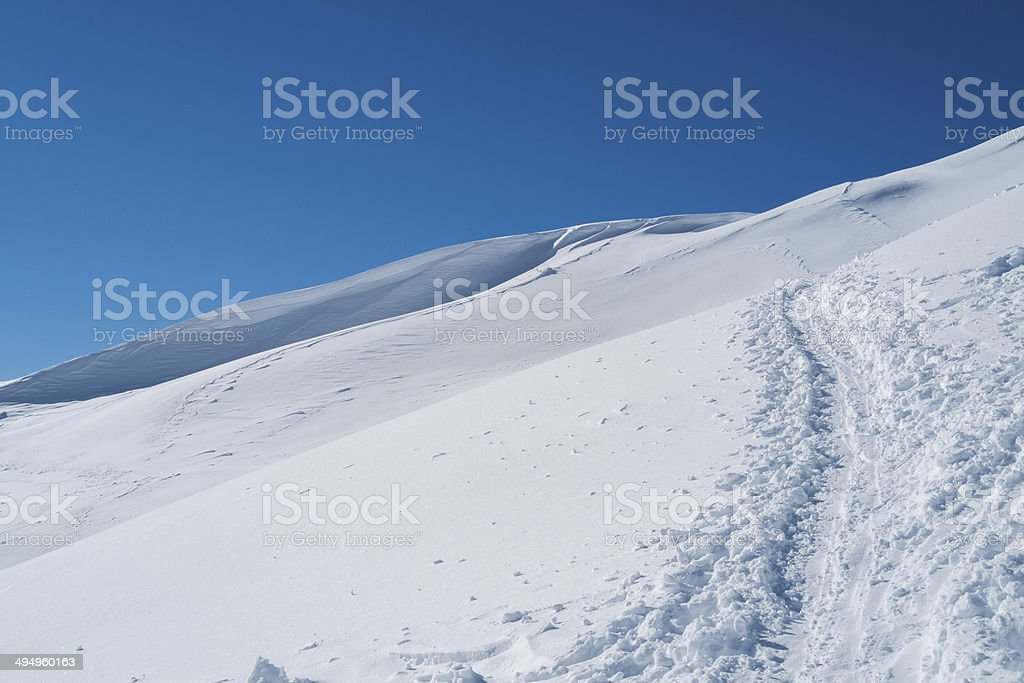 Mountains with snow royalty-free stock photo