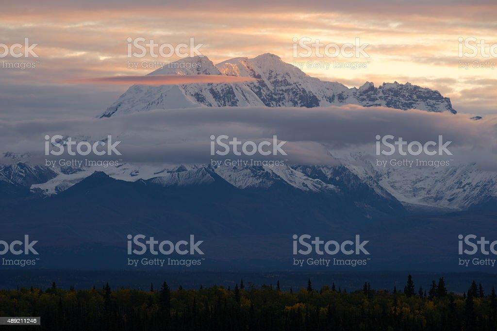 Mountains Wrangell St Elias National Park Mt Drum Alaska stock photo