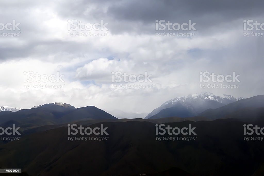 Mountainscape in Cloud royalty-free stock photo