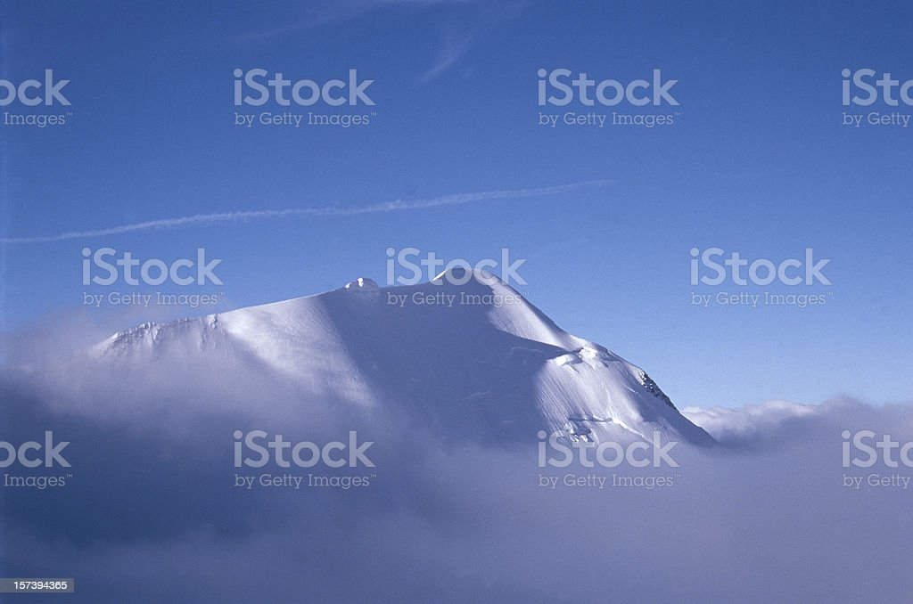 Mountainscape, Mont Blanc, French Alps stock photo