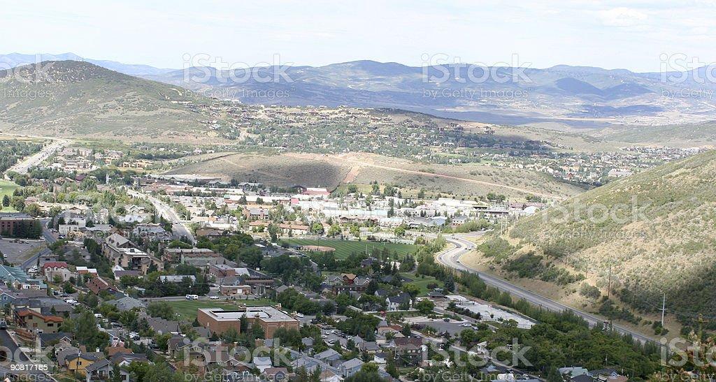 Mountainside Community royalty-free stock photo