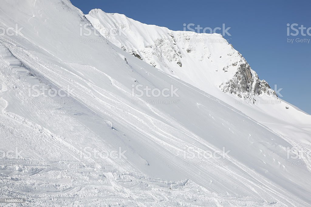 Mountainside Covered with Snow royalty-free stock photo