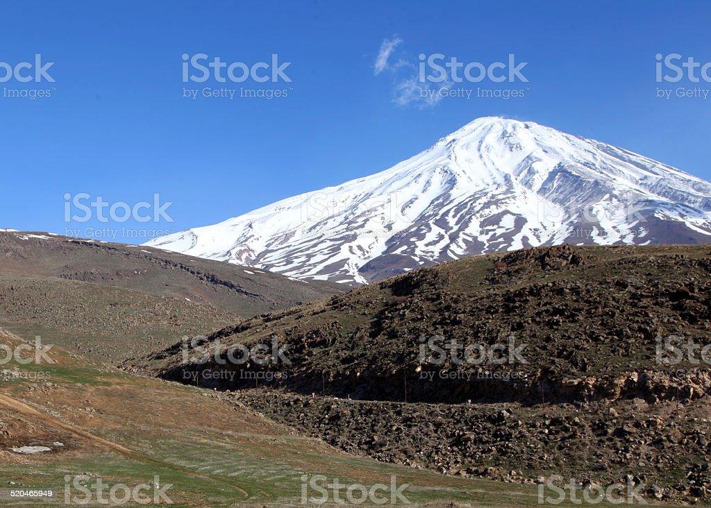 Au sommet de la montagne photo libre de droits