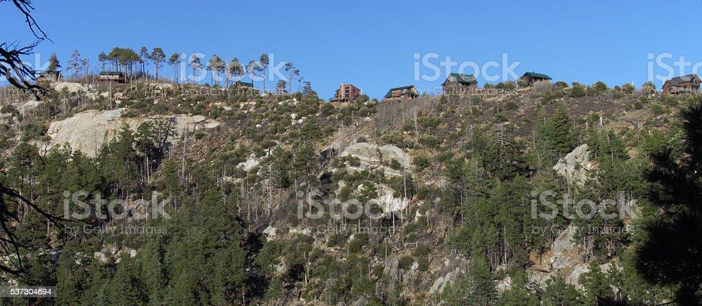 Mountaintop Retreat stock photo