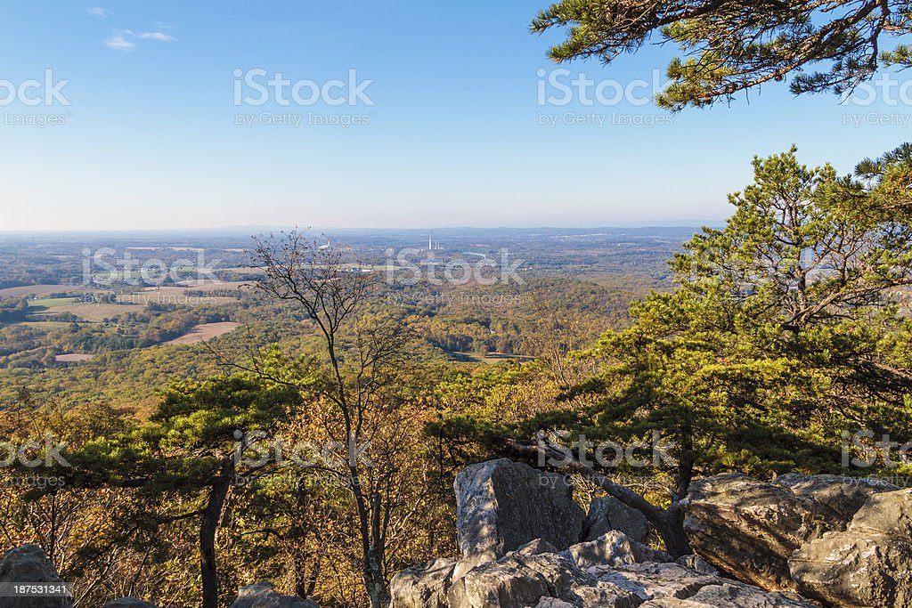 Mountaintop Valley View -- Sugarloaf Mountain stock photo