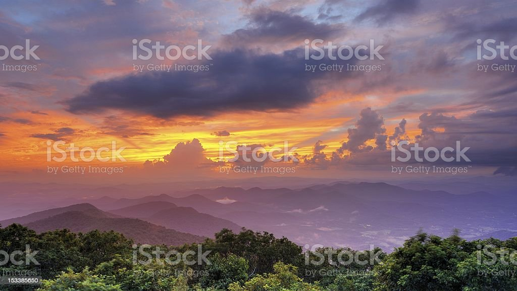 Mountaintop View stock photo