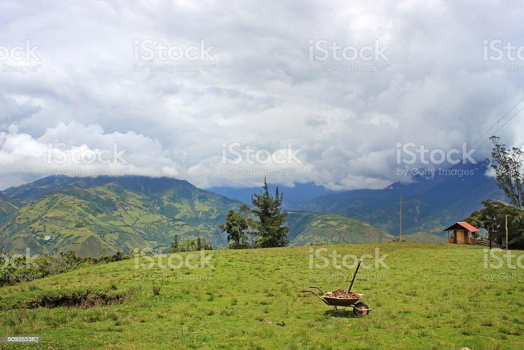 Mountaintops of Baños, Ecuador stock photo
