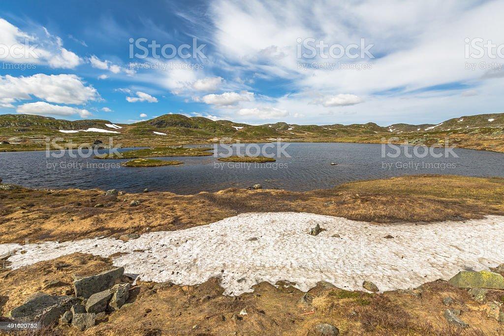 mountan Lake stock photo